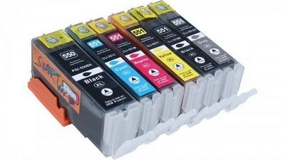 Canon 550-551 serie (complete set, 6 cartridges)