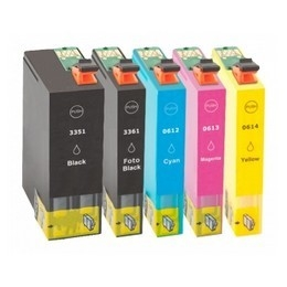 Epson T3351-T3364 (33XL) complete set (5 compatibele cartridges)