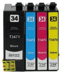 Epson T3471-T3474 XL complete set compatibel (4 cartridges)