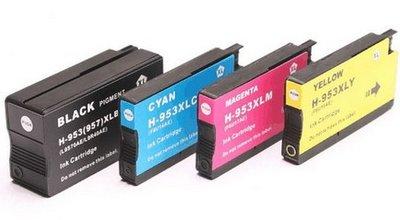 HP-953XL complete set gerecyclede cartridges (4 cartridges)