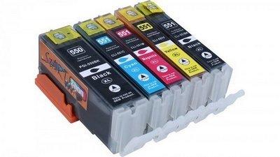 Canon 550-551 serie (complete set, 5 cartridges)