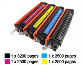 HP-CF540X-CF543X set (4 tonercartridges)